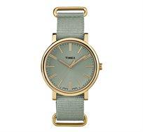 שעון אנלוגי TIMEX לנשים עם תאורה בסגנון רטרו עם רצועת נאטו בצבע אפור