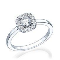 """טבעת אירוסין זהב לבן """"דומיניק"""" 0.71 קראט"""