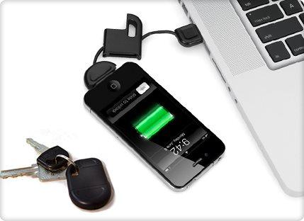 המטען שהולך איתך לכל מקום! מטען USB ל-IPHONE המתחבר למחזיק המפתחות, מתאים ל- 3/4/4S, ב-₪20 בלבד! - תמונה 2