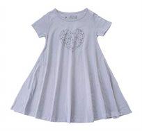 שמלה מסתובבת לב חדי קרן בצבע אפור