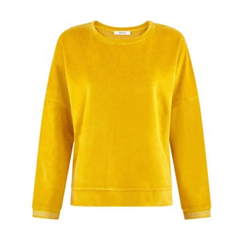 חולצת קטיפה רכה PROMOD לנשים - צהוב
