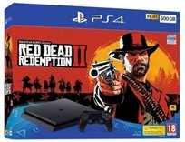 PlayStation 4 PS4 500Gb SLIM Red Dead Redemption 2 Bundle אירופאי !!