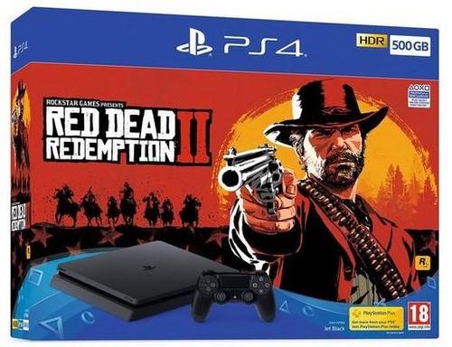 Playstation 4 Ps4 500Gb Slim Red Dead Redemption 2 Bundle אירופאי !!