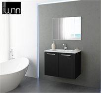 סט ארון אמבטיה ב-4 גדלים ובמגוון צבעים לבחירה הכולל ארון, כיור תואם ומראה קריסטלית מבית חרש