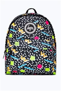 תיק גב הייפ - Backpack - Nineties Geo Hybags-067A Multi