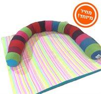 מבצע ל-72 שעות בלבד! מגן ראש 'תינוחש' למיטת תינוק מבית מילגה, משמש גם כתמיכה ומשחק רך וצבעוני!
