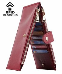 Lambo Wallet Multi Card Case Deep Red