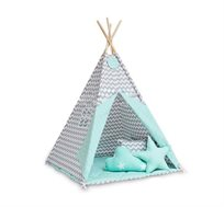 אוהל טיפי מעוצב כולל בסיס לחדרי ילדים