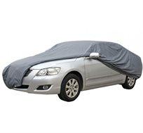 כיסוי רכב חיצוני ורב עונתי, מתאים לכל עונות השנה, מפחית קרינת UV, אינו שורט את צבע הרכב ודוחה רטיבות