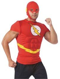 הברק חולצת שרירים למבוגרים + מסכה The Flash