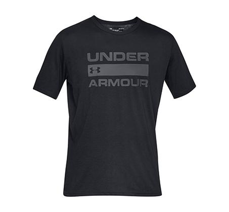חולצת טי שרט עם הדפס Under Armour Team Issue Wordmark SS לגברים - שחור