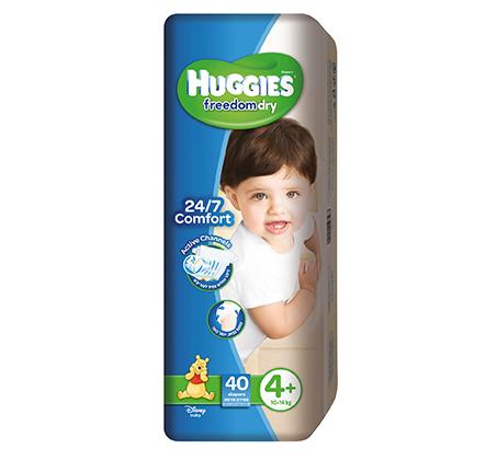מארז 3 חבילות Huggies Freedom Dry וחבילת Huggies Little Swimmers כולל כדור ים דורי מתנה - תמונה 2