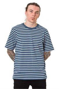 חולצת טי לגברים SUPPLY בצבע פסים כחול לבן