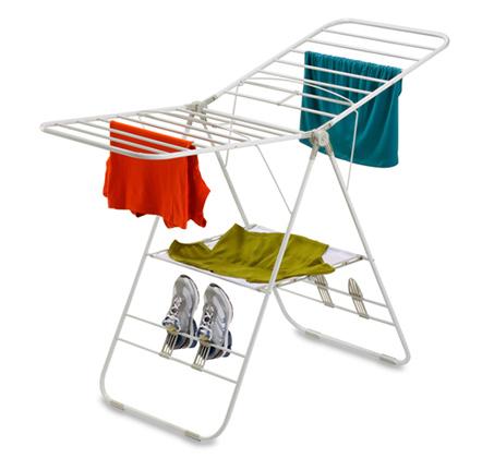 מתקן תלייה לכביסה עם כנפיים מתכווננות