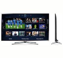 """טלוויזיה """"SAMSUNG LED 55 תלת מימד SMART TV בעברית, 4 ליבות, 400Hz, כולל 2 משקפיי תלת מימד מתנה!"""