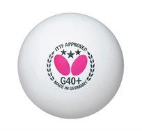 12 כדורי טניס שולחן תחרותיים +Butterfly 3 Star G40 תוצרת גרמניה