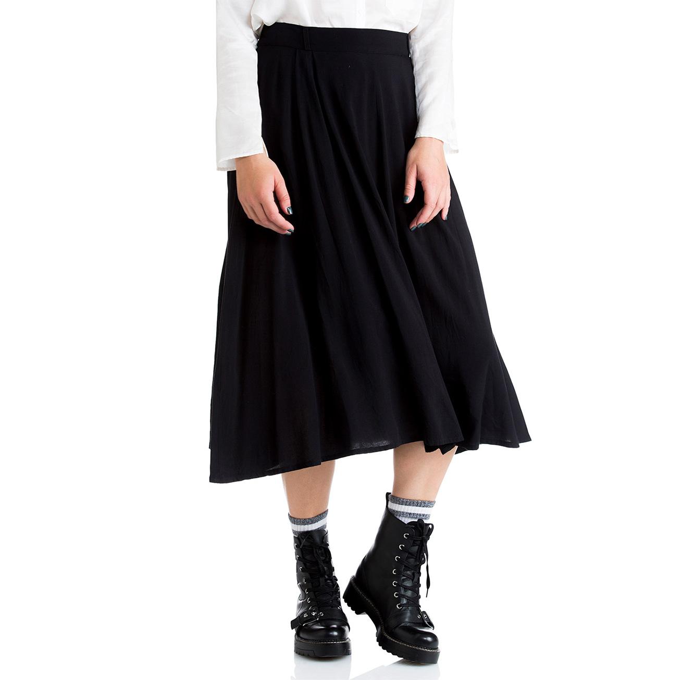 חצאית כפלים ארוכה - צבע לבחירה