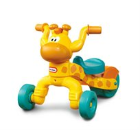 תלת אופן ג'ירפה לילדים Little Tikes עם מושב מתכוונן לפיתוח קואורדינציה מוטורית ואיזון - משלוח חינם!