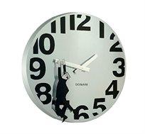 שעון קיר בצבע כרום דגם תלוי בזמן