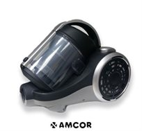 שואב VC770C מולטי צקלוני מבית AMCOR, ללא שקיות, בהספק 1900W ועוצמת שאיבה 550WSP, כולל מברשת חובטת!