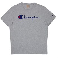 CHAMPION יוניסקס//CREW NECK TEE SHIRT GREY