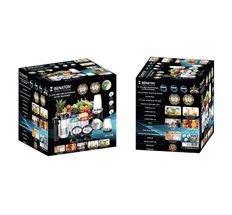 Nutri Blender מעבד מזון  5 מכשירים ב-1 בלנדר מעבד מזון קוצץ מקציף ומסחטת מיצים - תמונה 3