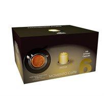 מארז של 100 קפסולות קפה איכותיות תואמות Nespresso בטעם מומנטו הודו - משלוח חינם