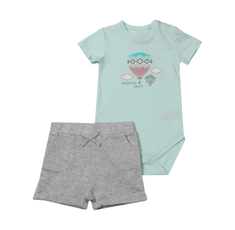 סט בגד גוף ומכנסיים Minene לתינוקות - תכלת