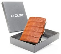 I-CLIP ׳Explorer׳ עור תנין - חום ׳קוניאק׳