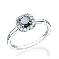 """טבעת יהלומים שחורים """"דומיניק"""" 0.71 קראט"""