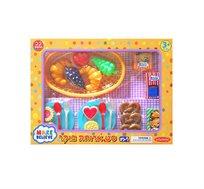 מארז ארוחת בוקר לילדים מכיל 22 חלקי משחק
