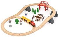 סט רכבת כפרית עם גשר 36 חלקים