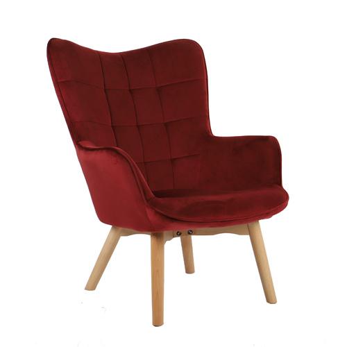 כורסא מלכותית מעוצבת עם רגלי עץ מלא וריפוד קטיפתי בצבעים לבחירה דגם בוסטון HOME DECOR - תמונה 5