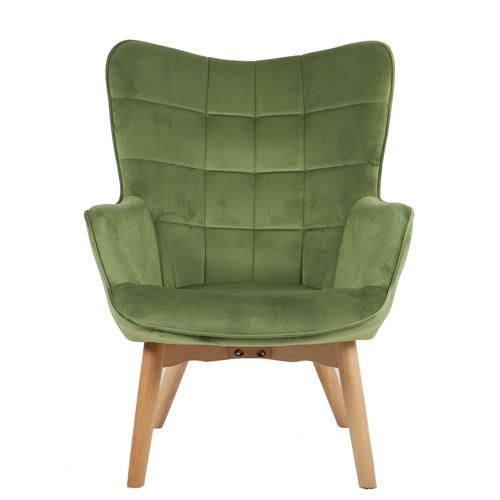 כורסא מלכותית מעוצבת עם רגלי עץ מלא וריפוד קטיפתי בצבעים לבחירה דגם בוסטון HOME DECOR - תמונה 8