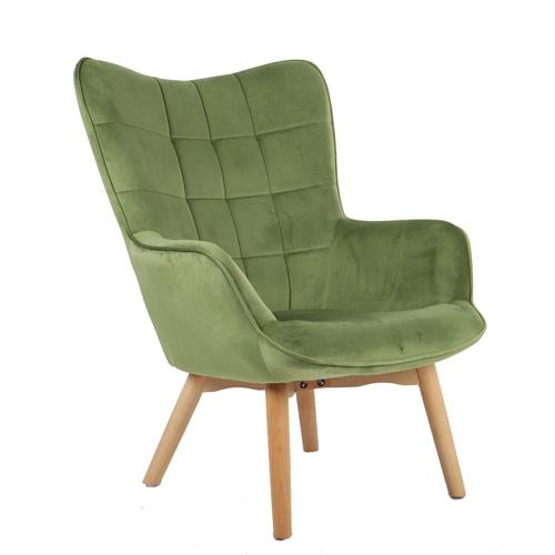 כורסא מלכותית מעוצבת עם רגלי עץ מלא וריפוד קטיפתי בצבעים לבחירה דגם בוסטון HOME DECOR - תמונה 7