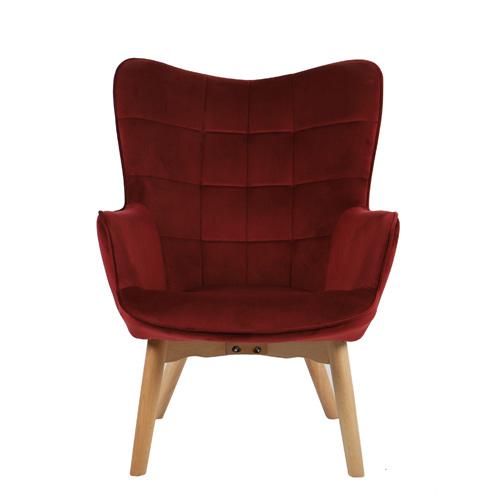 כורסא מלכותית מעוצבת עם רגלי עץ מלא וריפוד קטיפתי בצבעים לבחירה דגם בוסטון HOME DECOR - תמונה 6