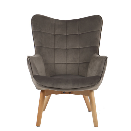 כורסא מלכותית מעוצבת עם רגלי עץ מלא וריפוד קטיפתי בצבעים לבחירה דגם בוסטון HOME DECOR - תמונה 3