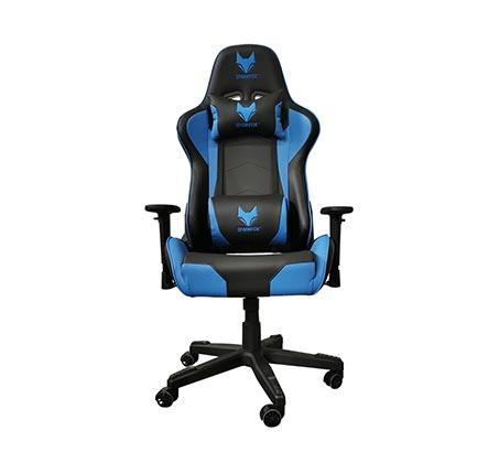 מושב גיימינג בטקסטורת מעויינים בצבע כחול