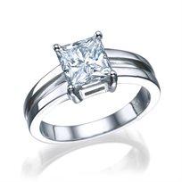 """טבעת יהלום """"קרולינה"""" זהב לבן 1.51 קראט"""