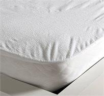 זוג מגני מזרן מגבת עם PVC בגודל מיטה וחצי + מתנה