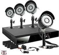 מערכת אבטחה DVR מושלמת + 4 מצלמות