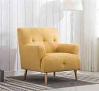 כורסא מעוצבת מבד בעיצוב רטרו דגם DANIEL בצבעים לבחירה