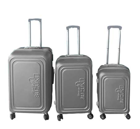 סט 3 מזוודות קשיחות Toledo - כסוף