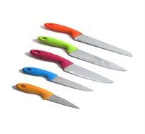 מארז 5 סכינים למגוון שימושי המטבח + מעמד