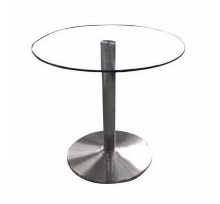 שולחן צד סלוני מזכוכית בגדלים לבחירה