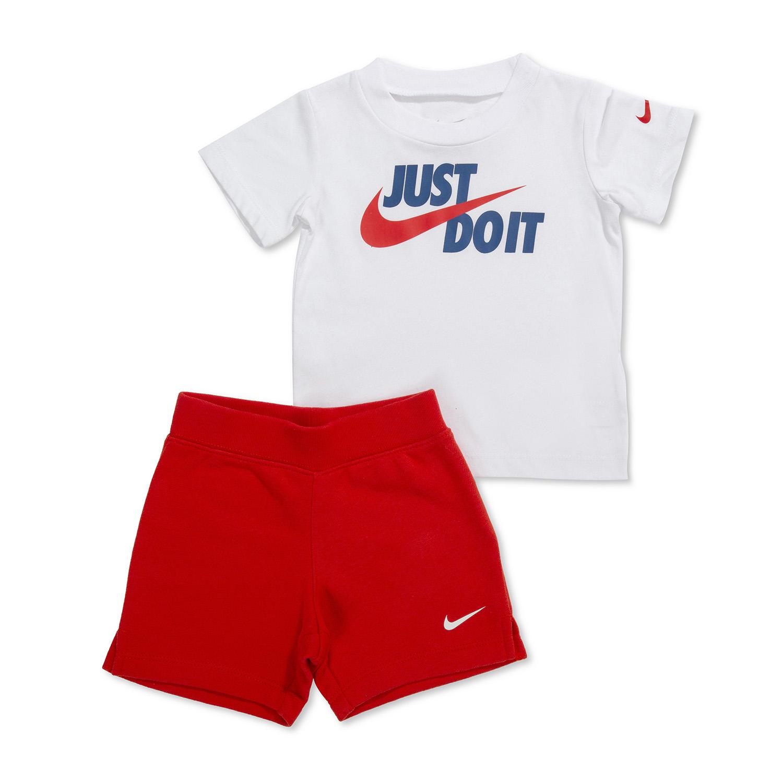 Nike תינוקות // סט קייצי אדום לבן