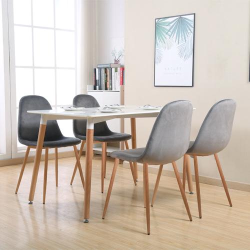 פינת אוכל קטנה הכוללת שולחן ו-4 כסאות דגם GOLAN-LAPID