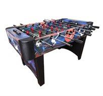 שולחן כדורגל ביתי דגם 'אגרסור' עשוי MDF, גדול ומאסיבי עם ציפוי דקורטיבי ומוטות חלולים