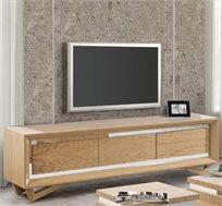 מזנון סלוני בצבע עץ בעל שלוש מגירות בעיצוב מודרני דגם פורסט