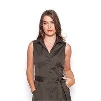 שמלת  פרסיליה זית חגורה